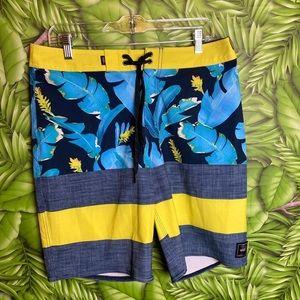 Vans Hawaiian Blue/Yellow Swim Surf Shorts